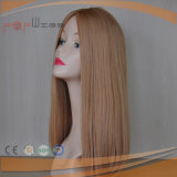 Парики шнурка длинних людских монгольских волос светлого цвета полные