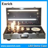 AC/DC 입력 전압과 철사 죔쇠를 가진 LED 전람 상자
