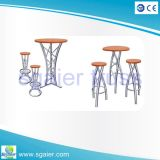 Conjunto de mesa de barril de alumínio ao ar livre elegante