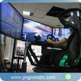 Condução de carro, auto simulador de competência dos jogos com Playeronline, 360degree que gira