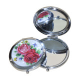 Whole Sale New Style Double-Sided Folding Custom Cosmetic PU Mirror