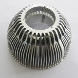 El OEM mantiene el aluminio sacó disipador de calor de aluminio que trabaja a máquina del CNC