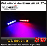 Van de LEIDENE van de politie LEIDEN van de Auto Stroboscoop van de Waarschuwing Lichte Opvlammend Licht voor het Voor LEIDENE van het Traliewerk Rode Blauw van de Koplamp