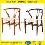 Y-verwendete rückseitiger hölzerner Rattan-Sitzstuhl für Kaffee