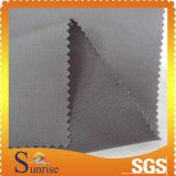Tela de plata 100% de la gata del algodón de la capa para la ropa