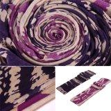 Sciarpa viola e blu Pashmina morbido di doppio colore delle donne del poliestere