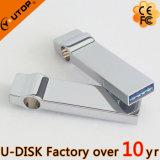 movimentação feita sob encomenda do flash do metal USB3.0 do logotipo da gravura do laser 8/16/32/64/128GB (YT-3298L)