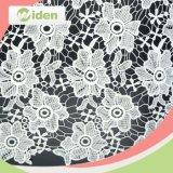 Tissu chimique de lacet de lacet de tissu de broderie florale neuve de modèle