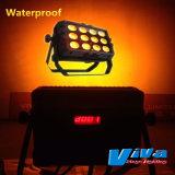 12X15W Waterproof IP65 RGBWA 5 in 1 Flat PAR LED PAR