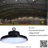 luz industrial do diodo emissor de luz Highbay do UFO de 50W 100W 150W 200W