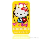 Caja del teléfono del silicón del gatito del arqueamiento hola para el iPhone 5g 6s Samsung J310 510 710 (XSK-007)