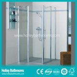 Cabine rectangulaire ouverte de vente chaude de douche de forme de charnière (SE312N)