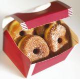 Réutiliser la caisse d'emballage de papier respectueuse de l'environnement pour le beignet