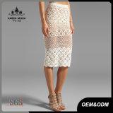 Высокое качество Карен Ladys Scalloped Crocheted юбка MIDI