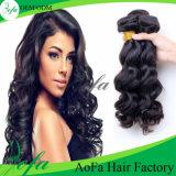 Prolonge brésilienne de cheveux humains de Vierge de 100% de cheveu d'onde non transformée de corps