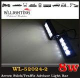 Lumière clignotante d'avertissement du véhicule DEL de lumière de signal d'échantillonnage de la police DEL pour le bleu rouge de phare avant du gril DEL