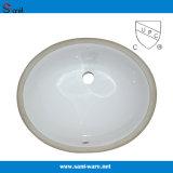 Bassin de dessous en céramique de salle de bains contre- avec Cupc (SN005)