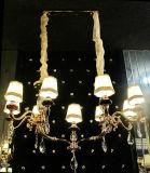 Iluminación europea del hogar de la decoración de Phine con la lámpara pendiente de la cortina de la tela
