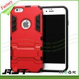 iPhone 6s를 위한 1개의 TPU PC Kickstand 셀룰라 전화 상자에 대하여 잡종 2