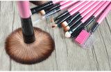 12 части щетки состава художника состава розовых волос ручки твердой древесины синтетических профессиональной