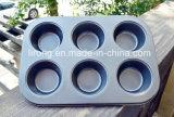 Muffin PanCookware van de Deklaag van het Koolstofstaal de Teflon Non-Stick