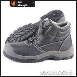 Zapatos de seguridad de los hombres del cuero genuino (SN5209)