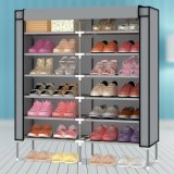 12-Tier Metal Frame Waterproof Cloth Shoe Cabinet (WS16-0047, für Hauptmöbel)
