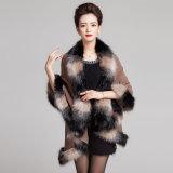 Châle tricoté parhiver de fourrure de Faux teint parespace de mode de femme (YKY4472)