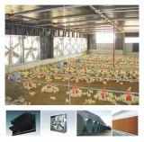 Il pollame prefabbricato progettato moderno alloggia con la strumentazione del pollame dell'insieme completo