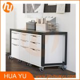 Armazenamento Metal Furniture 3 Drawers Colorful Movable Filing Cabinet com 4 Casters
