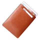 iPad를 위한 간단한 매우 얇은 두 배 가죽 가방 상자