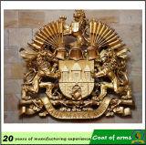 manteau d'emblème national de couronne en métal 3D des bras