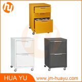 4 Casters를 가진 저장 Metal Furniture 3 Drawers Colorful Movable Filing Cabinet