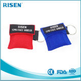 Het Unidirectionele Beschikbare CPR Masker van uitstekende kwaliteit van de Klep Keychain