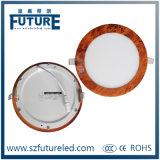 Luz de painel redonda clara do diodo emissor de luz dos dispositivos elétricos 9W de teto para o agregado familiar