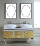 Gabinete de banheiro dobro do aço inoxidável das bacias
