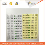 Papel de vinilo de PVC etiqueta impresa impresión de la etiqueta engomada adhesiva transparente