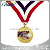 亜鉛合金はリボンが付いている鋳造物の金属の記念品賞のスポーツメダルを停止する