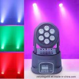 Mini 7*12W RGBWA LED Moving Head Wash Effect Lights
