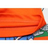 Maglietta a buon mercato arancione su ordinazione della stampa del soffio degli uomini di alta qualità