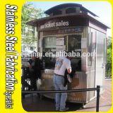 Cabine de billet extérieure portative d'acier inoxydable