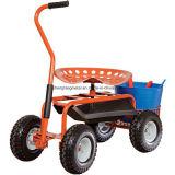 """""""trotinette"""" do jardim do rolamento, assento de jardim do rolamento, carro do assento de jardim"""
