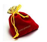 Kundenspezifischer Samtdrawstring-Schmucksache-Geschenk-fördernder Beutel mit Firmenzeichen-Drucken