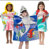 Kids를 위한 면 Cute Designs Printing Velour Bath Towel Bath Poncho