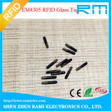 2016 Tag de vidro animal quente da venda Em4305 RFID com seringa do microchip