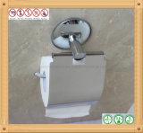 Support s'arrêtant de papier de rouleau de papier hygiénique en métal d'acier inoxydable pour la salle de bains