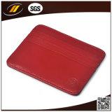 Владельца карточки названия фирмы PU оптового точного металла качества кожаный (HJ8102)