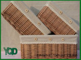 Cloth.를 가진 장방형 Storage Wicker Basket