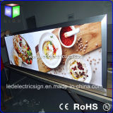 Crystal Glass Frameの極度のSlim LED Display Board