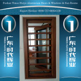 Aluminum Security Window with Double Glazing and Gauze